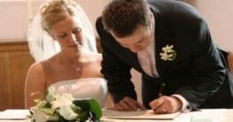 Hochzeit und Behördengänge